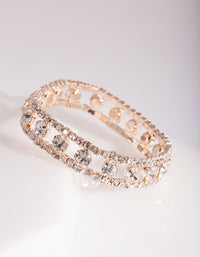 Rose Gold Diamante Cut-Out Bracelet - link has visual effect only