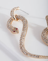 Gold Diamante Snake Earring - link has visual effect only