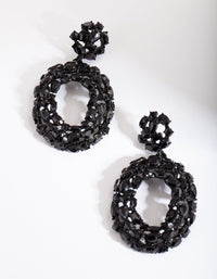 Black Gem Cluster Earring - link has visual effect only