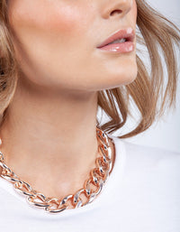 Rose Gold Chunky Chain Necklace