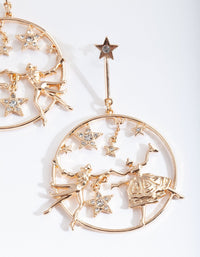 Gold Dancing Star Earring - link has visual effect only