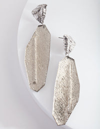 Silver Cracked Stone Earring - link has visual effect only