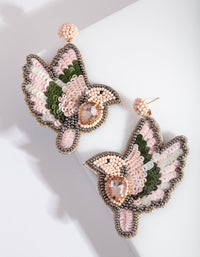 Pink Flying Dove Earring - link has visual effect only