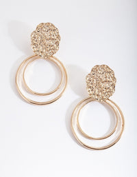 Gold Textured Loop Earring - link has visual effect only