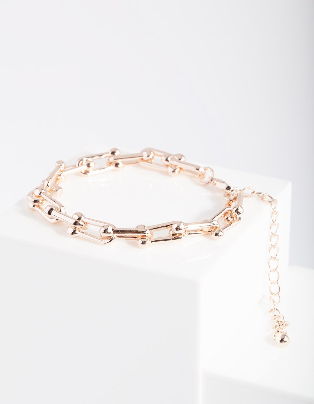 Rose Gold Open Chain Bracelet