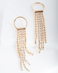 Gold Diamante Tassel Earring - link has visual effect only