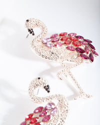 Red Gem Flamingo Earring - link has visual effect only