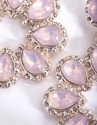 Pink Stone Round Earring - link has visual effect only
