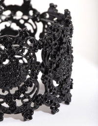 Black Crater Stretch Bracelet - link has visual effect only