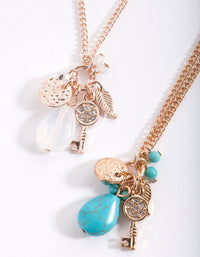 Semi Precious Gem Cluster Necklace Pack - link has visual effect only