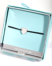 Sterling Silver Heart Pendant Bracelet - link has visual effect only
