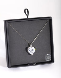 Cubic Zirconia Oversize Heart Necklace - link has visual effect only