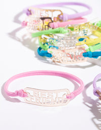 Kids Multi-Coloured Bracelet 8 Pack - link has visual effect only