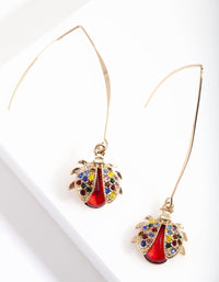 Lady Bug Drop Earring - link has visual effect only