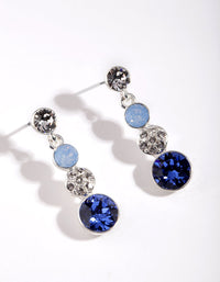 Silver Swarovski AQ202 Multi Stone Earring - link has visual effect only