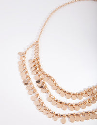 Gold Jingle Triple Layer Necklace - link has visual effect only