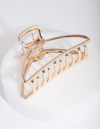 Gold Outline Claw Hair Clip - link has visual effect only