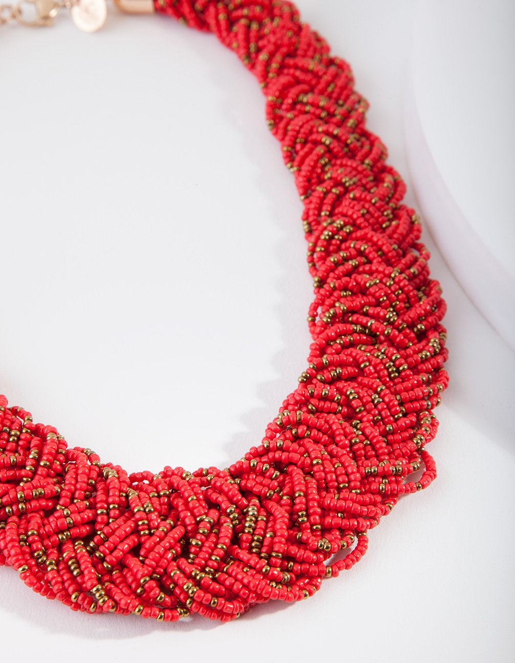 Bead Flat Plaited Necklace