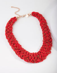 Bead Flat Plaited Necklace - link has visual effect only