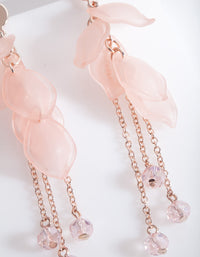 Pink Petal Chain Drop Earring - link has visual effect only