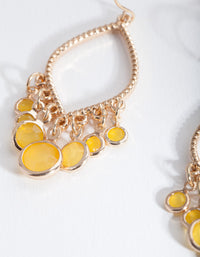 Gold Yellow Sun Drop Earring - link has visual effect only
