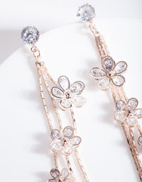 Rose Gold Cubic Zirconia Cluster Earring - link has visual effect only