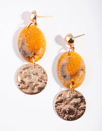 Gold Mustard Stone Drop Earring - link has visual effect only