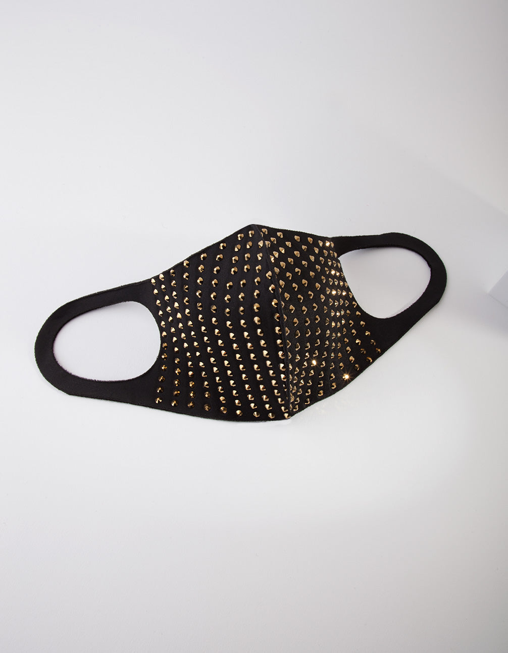 Black and Gold Studded Cloth Face Mask