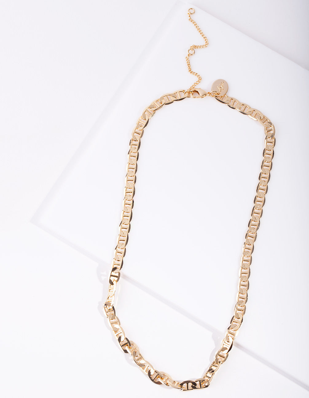 Real Gold Plated Thick Chain Necklace
