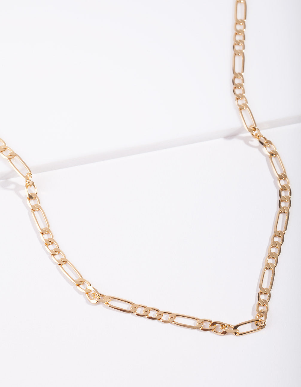Real Gold Plated 60cm Figaro Necklace