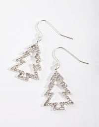 Silver Crystal Tree Outline Earring - link has visual effect only