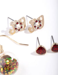 Gold Joy Bauble Earring 3 Pack - link has visual effect only