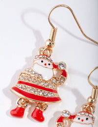 Gold Dancing Santa Earring - link has visual effect only
