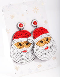 Santa Bead Earring - link has visual effect only