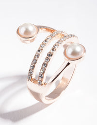 Rose Gold Wrapped Pearl Ring - link has visual effect only