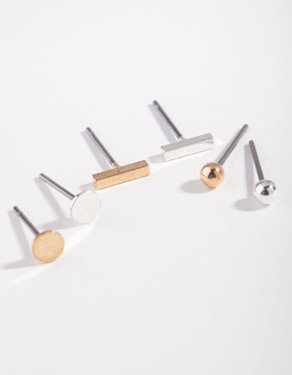 Mixed Metal Disc and Stick Micro Ear Stacker