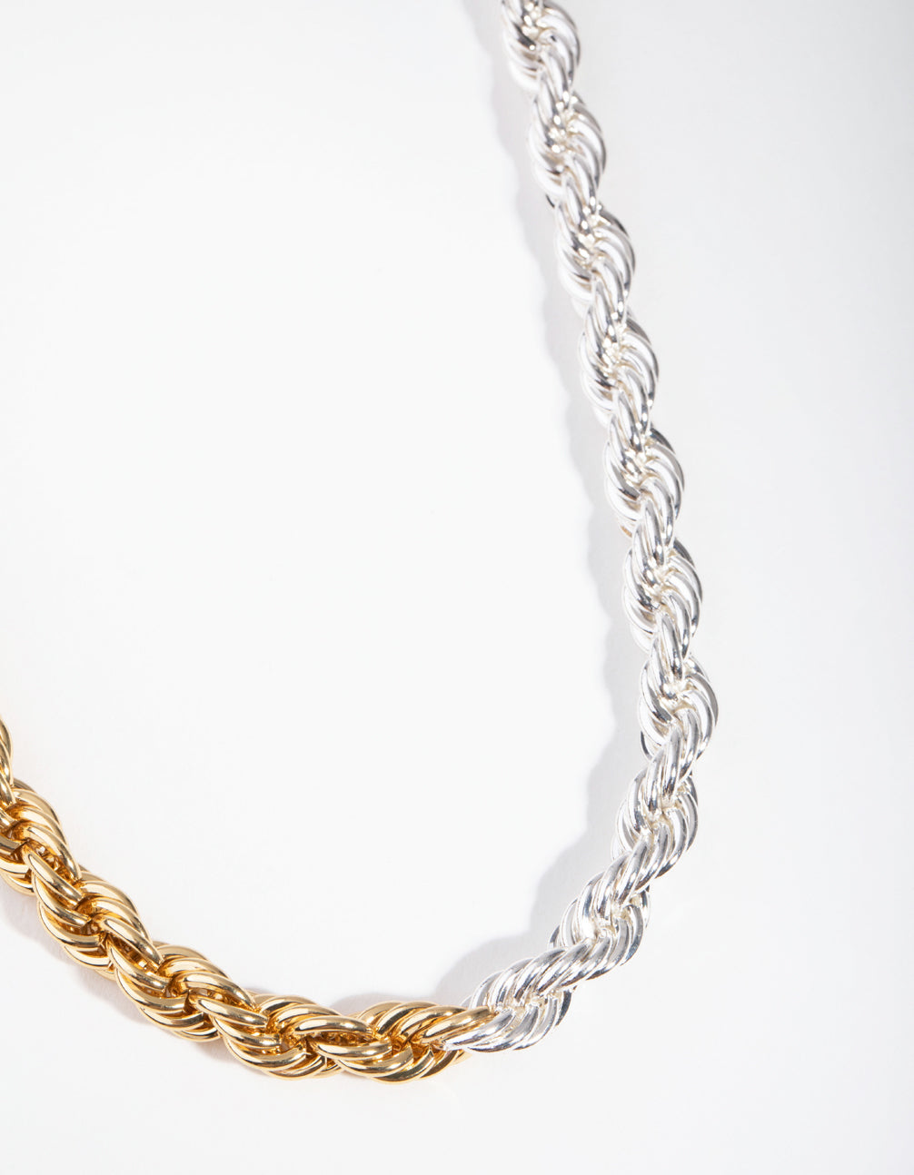 Real Gold and Silver Plated 45cm Rope Necklace
