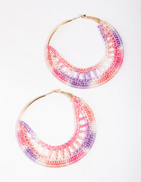 Gold Disc Crochet Earrings - link has visual effect only