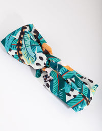 Green Tropical Fabric Headband - link has visual effect only