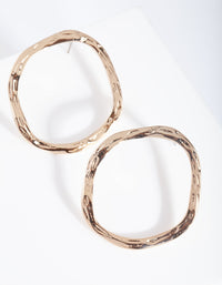 Gold Hammered Circle Stud Earring - link has visual effect only