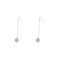 Silver Wire Wrap Ball Drop Earring - link has visual effect only