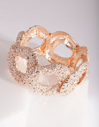 Rose Gold Textured Circle Bangle - link has visual effect only