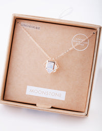 Rose Gold Moonstone Cage Gift Box
