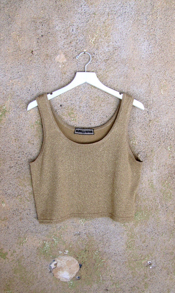 Gold Lurex Sweater Tanks