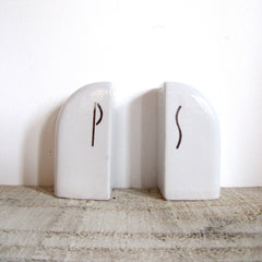 Art Deco Salt/Pepper Shakers - WHITE