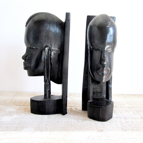 Black Tribal Bookends