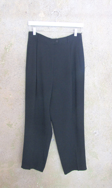 Cropped Black Trouser - M