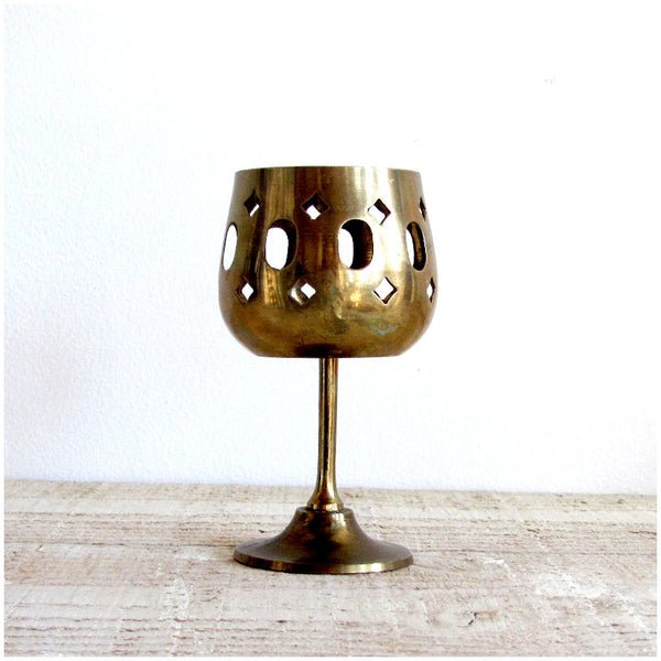 Brass Tea Light Holder - Large