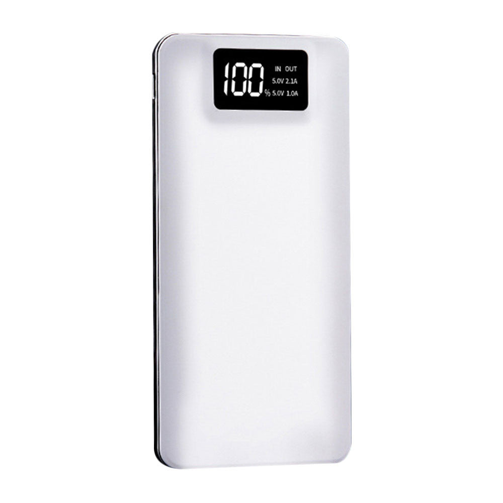 Battery Charger Power Bank Portable Hiking High Capacity Dual USB LCD Display Screen Mobile Phone Travel