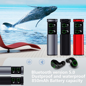 Wireless Bluetooth 5.0 Sports Headset Waterproof And Long-lasting Bass Headset